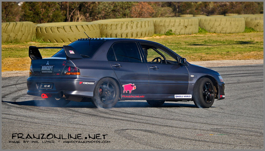 Evo 8 MR Sideways