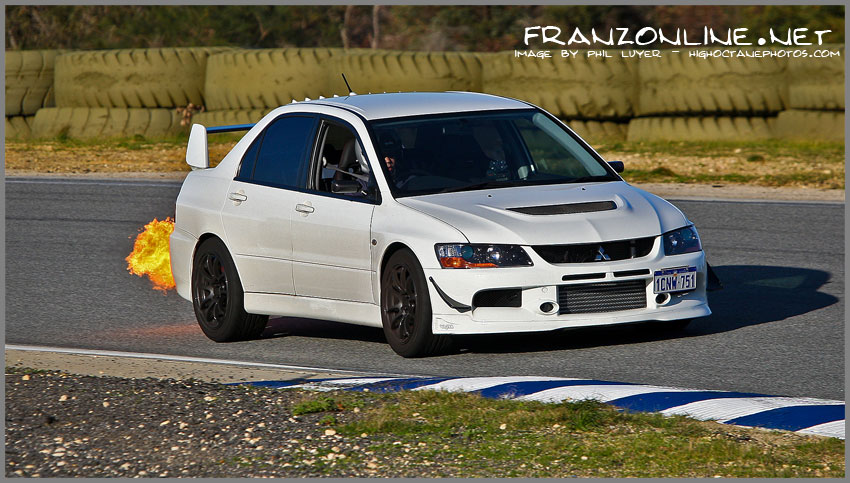 Teddy Sardjono's flame throwing Evo 9