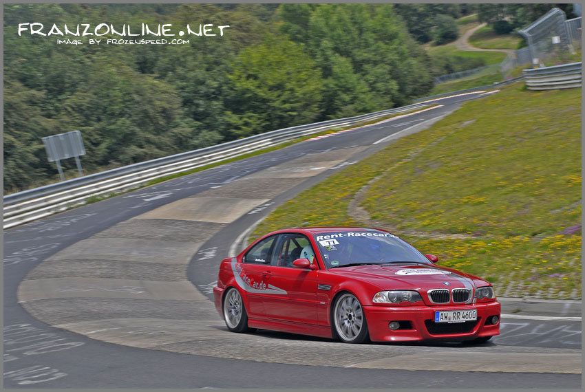 The RentRaceCar BMW M3 at the Karussell