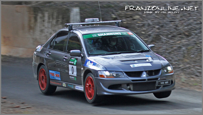 Air time at the 2012 Killarnee Targa South West Tarmac Event