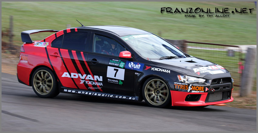 Wheels World Evo X in Action - Killarnee Targa South West 2012